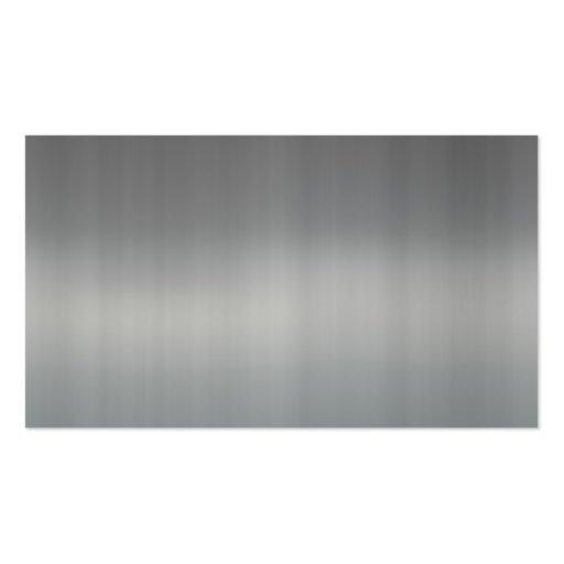 tarjeta de visita de aluminio cepillada brillante