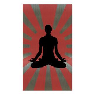 Tarjeta de visita de aluminio del estilo de la yog