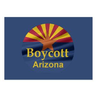 Tarjeta de visita de Arizona del BOICOTEO