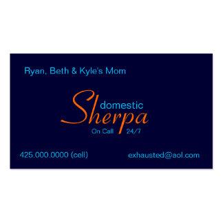 Tarjeta de visita de Bag_Sherpa-style™_domestic de