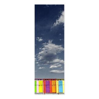 Tarjeta de visita de baño colorida de la señal de