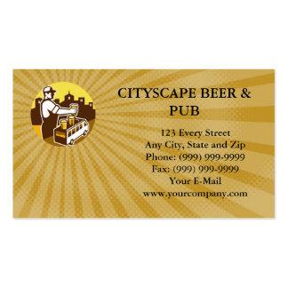 Tarjeta de visita de Beer City Van Circle Retro