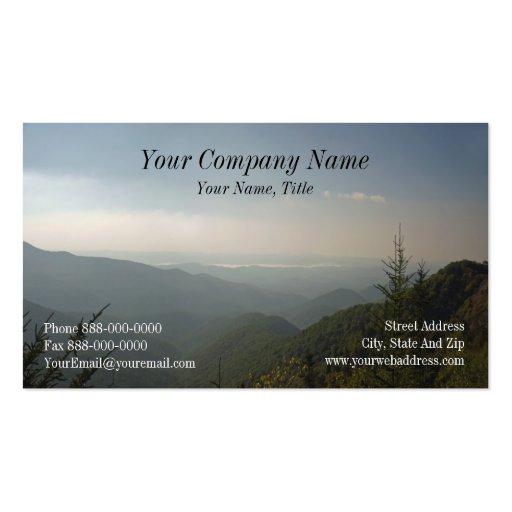 Tarjeta de visita de Blue Ridge Mountains