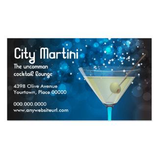 Tarjeta de visita de Bokeh Martini