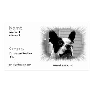 Tarjeta de visita de Boston Terrier