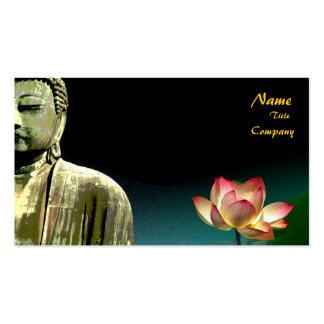 Tarjeta de visita de Buda y del loto, curadores ho