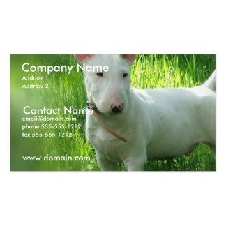 Tarjeta de visita de bull terrier