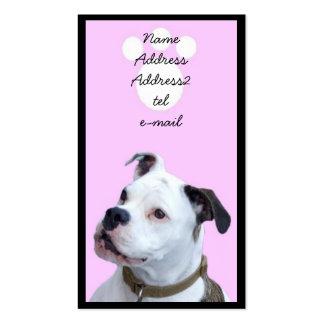 Tarjeta de visita de Bulldogge del inglés de Olde