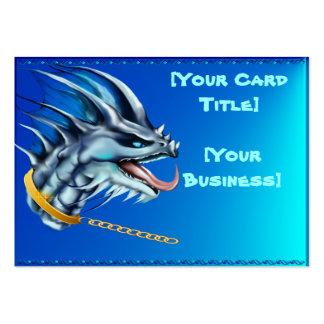 Tarjeta de visita de cadena del dragón y del oro
