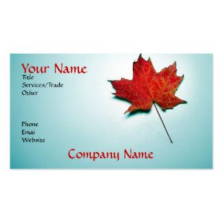 tarjeta de visita de Canadá