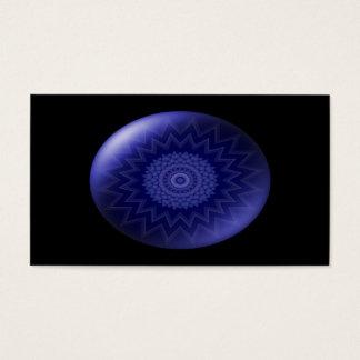 Tarjeta de visita de Chakra de la garganta azul