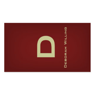 Tarjeta de visita de cobre amarillo de la cinta