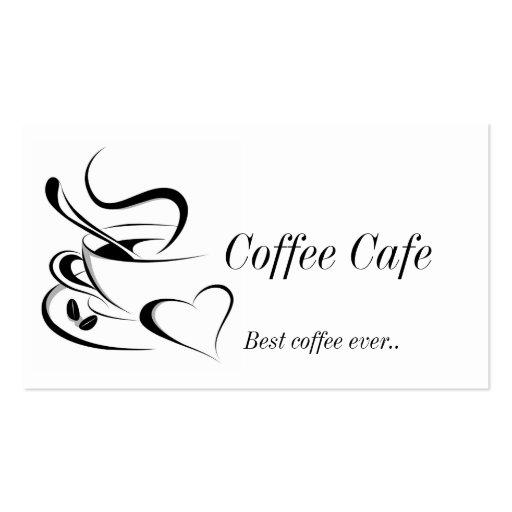 Tarjeta de visita de Cofee