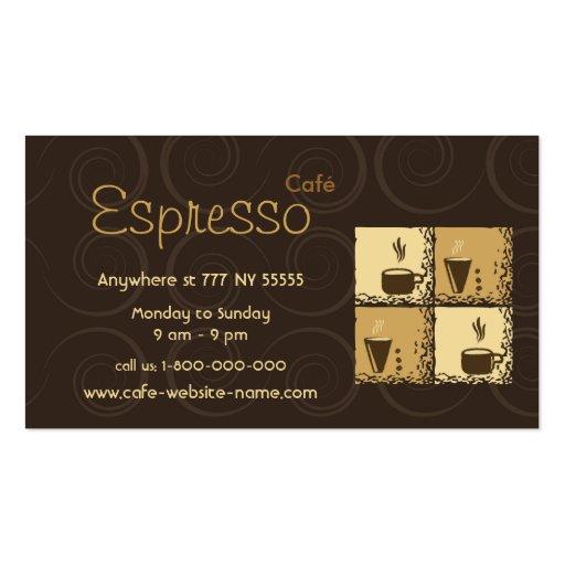 Tarjeta de visita de Coffeeshop