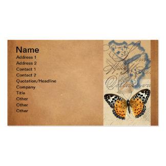 Tarjeta de visita de colección de la mariposa del