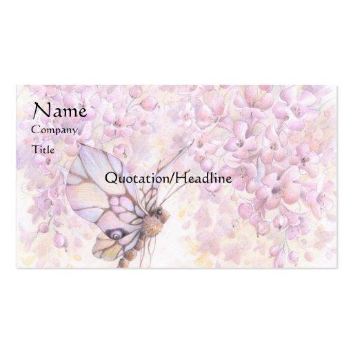 Tarjeta de visita de color de malva del flor y de
