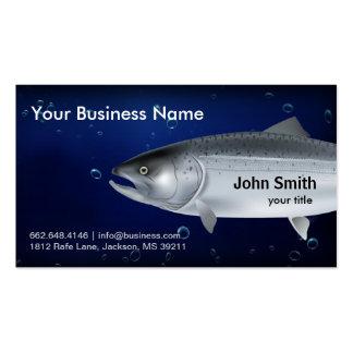 Tarjeta de visita de color salmón de la pesca