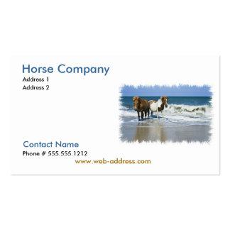 Tarjeta de visita de Compay del caballo