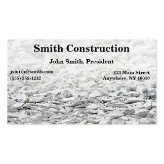 Tarjeta de visita de construcción