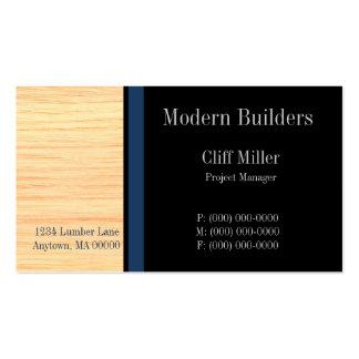 Tarjeta de visita de construcción de la madera con