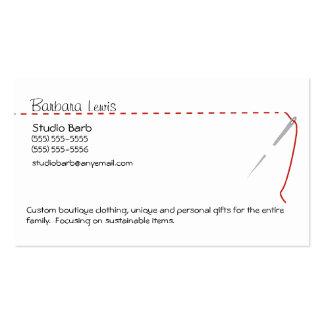 Tarjeta de visita de costura del arte