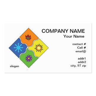 tarjeta de visita de cuatro estaciones