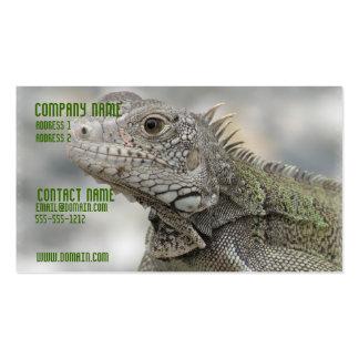 Tarjeta de visita de cuernos de la iguana