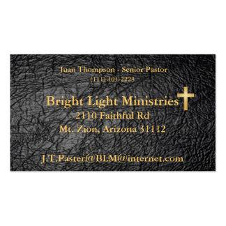 Tarjeta de visita de cuero de la piel de la biblia