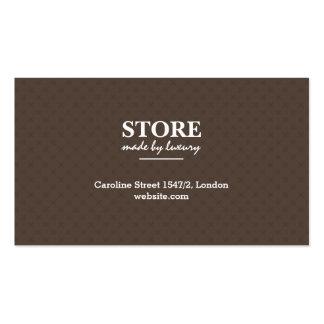 Tarjeta de visita de cuero de la tienda de la moda