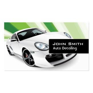 Tarjeta de visita de detalle auto móvil verde del