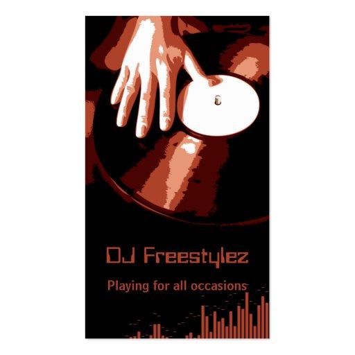 Tarjeta de visita de DJ de la placa giratoria