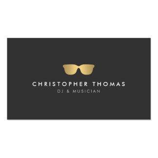 Tarjeta de visita de DJ de las gafas de sol del or