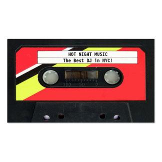 Tarjeta de visita de DJ del casete audio