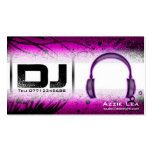 Tarjeta de visita de DJ - personalizable