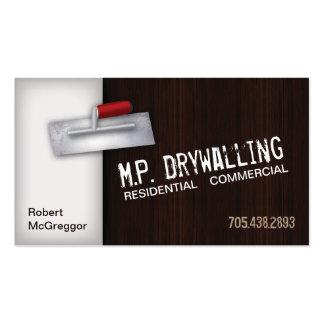 Tarjeta de visita de Drywalling - textura de la