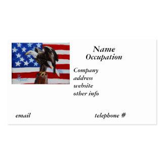 Tarjeta de visita de Eagle de la libertad