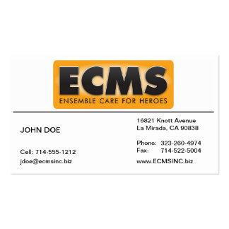 Tarjeta de visita de ECMS alineada