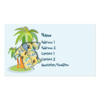 Tarjeta de visita de encargo de la camisa hawaiana