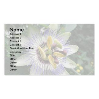 Tarjeta de visita de encargo de la flor de la pasi