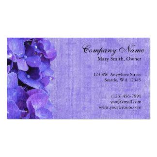 Tarjeta de visita de encargo de la flor púrpura de