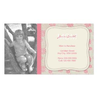 Tarjeta de visita de encargo de la foto de la mamá