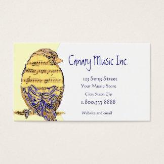 Tarjeta de visita de encargo de la música y del
