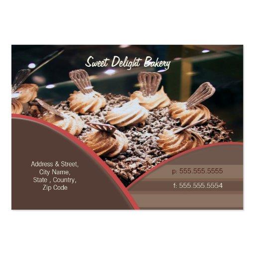 Tarjeta de visita de encargo de la panadería/de