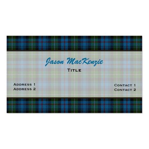 Tarjeta de visita de encargo de la tela escocesa d