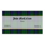 Tarjeta de visita de encargo de la tela escocesa h