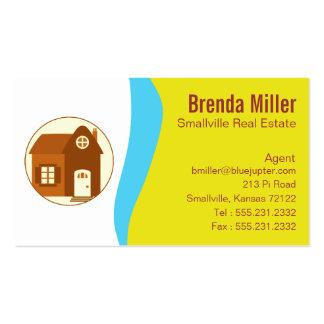 Tarjeta de visita de encargo de las propiedades in