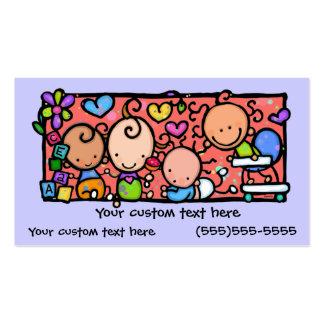 Tarjeta de visita de encargo de los pequeños bebés