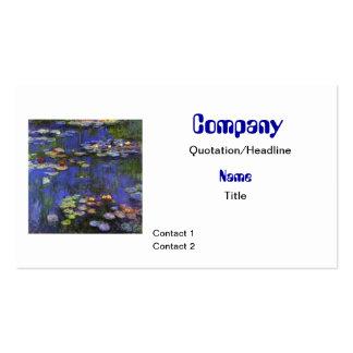 Tarjeta de visita de encargo de Monet Waterlilies