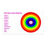 Tarjeta de visita de encargo del arco iris redondo