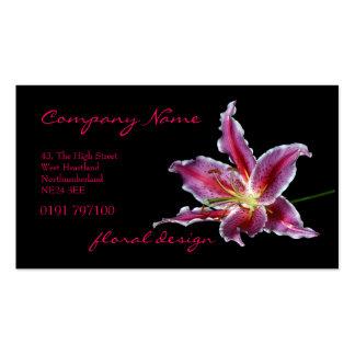 Tarjeta de visita de encargo del florista